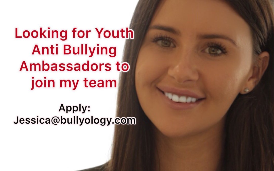 Bullyology – Looking for Youth Anti Bullying Ambassadors to Join My Team