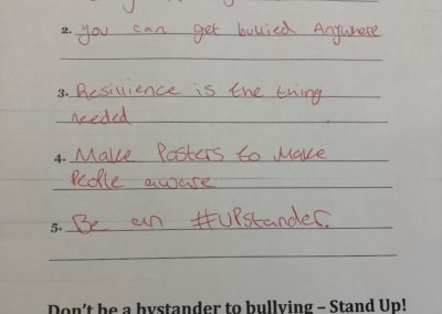 #upstander school campaign - Testimonial 1