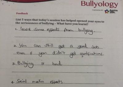 #upstander school campaign - Testimonial 4
