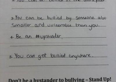 #upstander school campaign - Testimonial 5