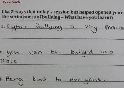 #upstander school campaign - Testimonial 6